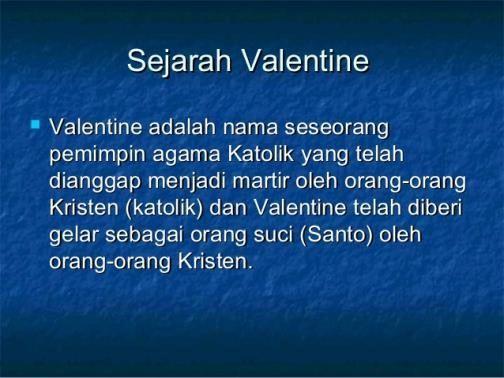 sejarah valentine day menurut katolik