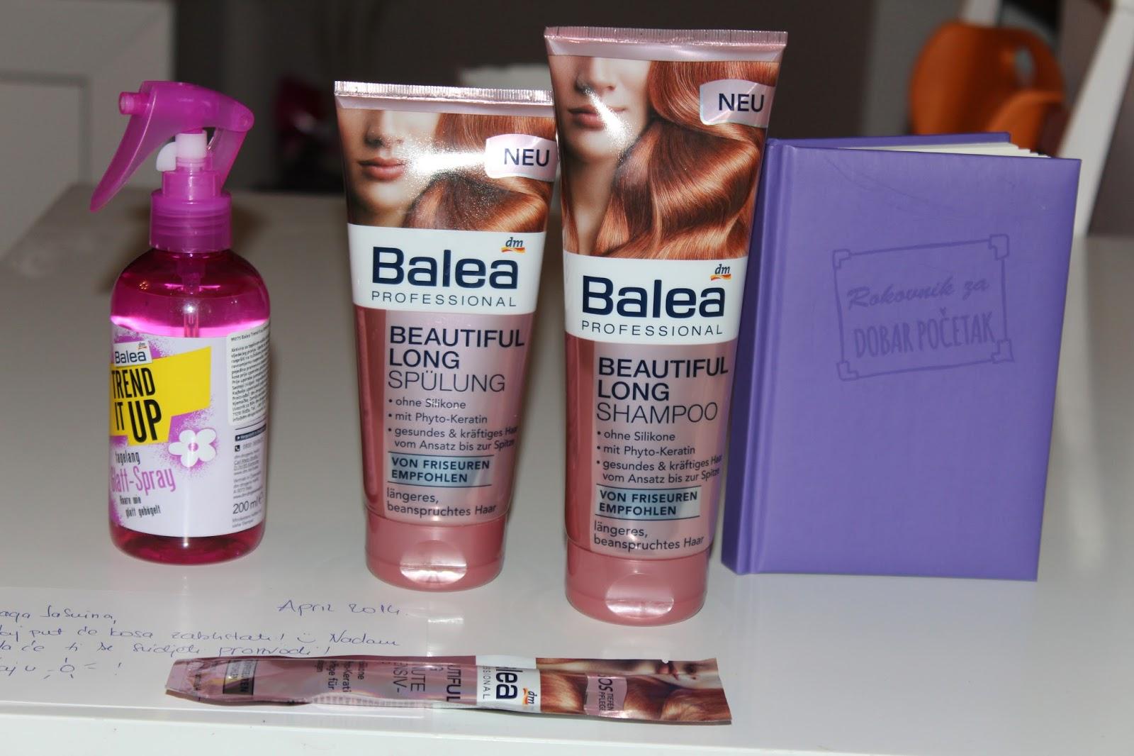 DM #5: Balea šampon, regenerator i kura za dugu i zahtjevnu kosu, Sprej za ravnanje kose