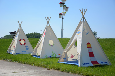 nautical teepee tent for kids