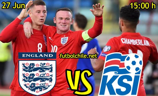 VER STREAM RESULTADO EN VIVO, ONLINE: Inglaterra vs Islandia