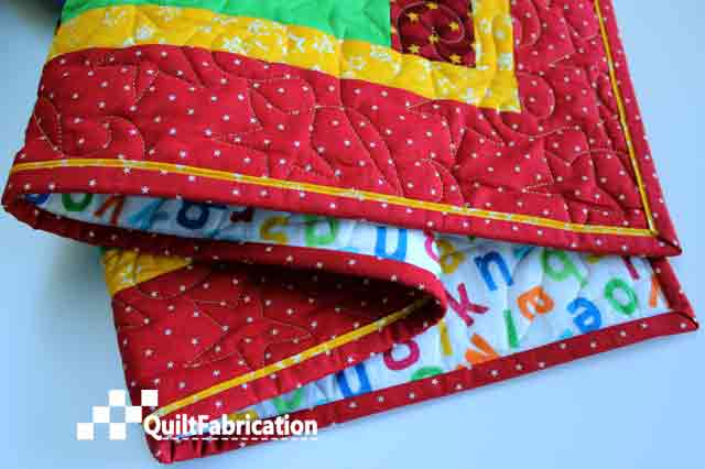 Piped Quilt Binding