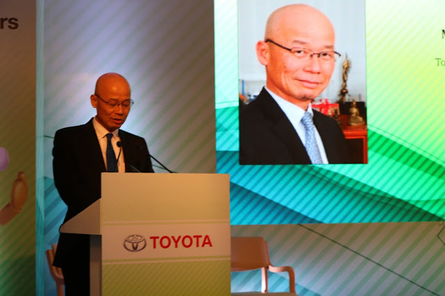 Mr. Akito Tachibana, Managing Director, Toyota Kirloskar Motor at the Toyota Caravan