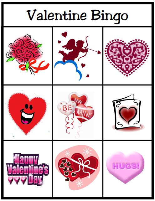6 New Valentines Day Bingo Cards For Kids – Valentines Bingo Cards