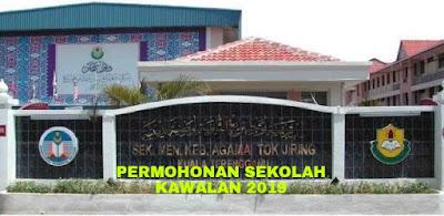 Permohonan Sekolah Kawalan 2019 SMKA SABK KAA KRK
