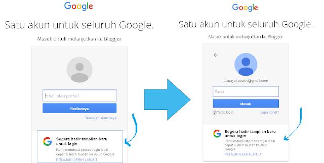 Tampilan Halaman Login Google Lama