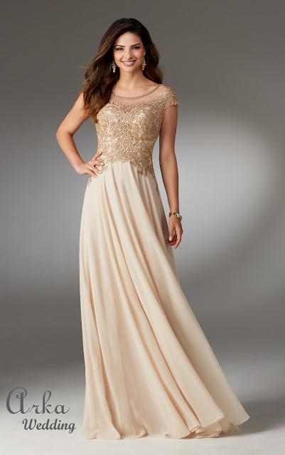 d82feea84bc5 Βραδινό Chiffon Φόρεμα, Δαντέλα Κεντημένη Bateau Μπούστο Κωδικός: 71508