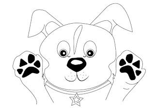 דפי צביעה של כלבים חמודים