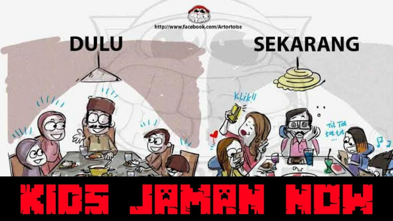 Kartun Anak Jaman Now Gokil Abis
