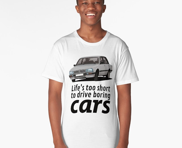 Life's too short to drive boring cars - Peugeot 505 GTi t-shirt
