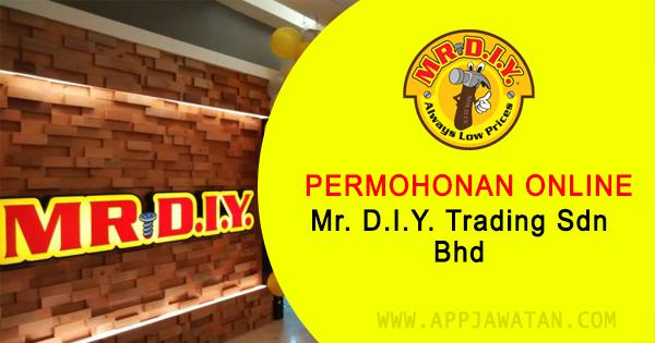 Jawatan Kosong di Mr. D.I.Y. Trading Sdn Bhd