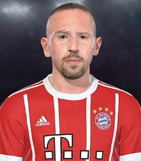 PES 2018 Faces Franck Ribery by Lucas Facemaker