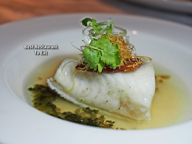 CNY 2019 Set Menu - Steamed Cod stuffed with Chinese Ham served with Honey and Supreme Stock Paste
