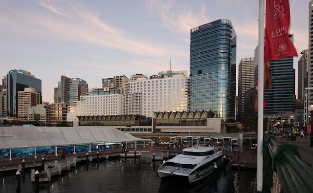 Darling Harbour viewed from Hyatt Regency Sydney