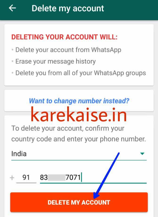 Whatsapp-account-delete-karne-ka-tariaka