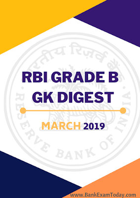 RBI Grade B GK Digest March 2019