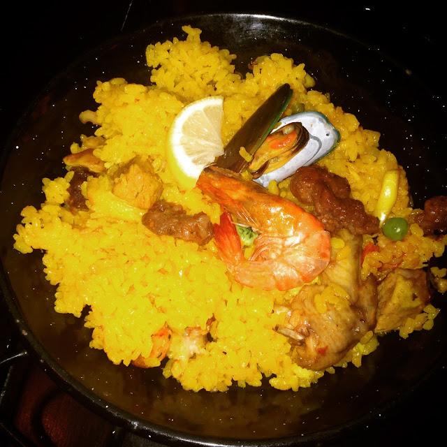 Valenciana special rice dish at Hala Paella Restaurant