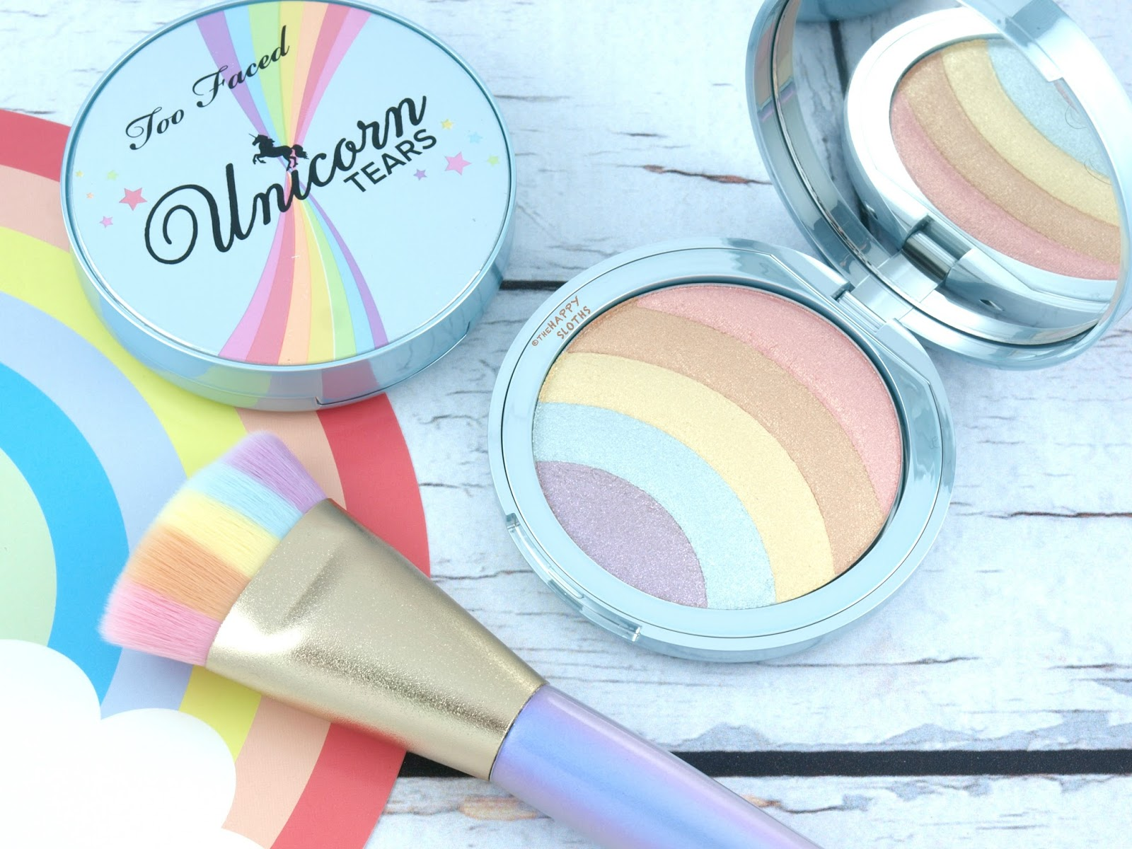 Too Faced | Life's A Festival Rainbow Strobe Highlighter: Review and Swatches