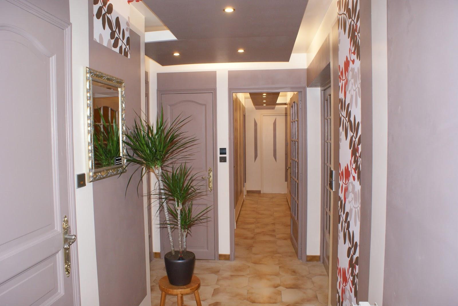 Decor Couloir | Decoration Peinture Interieur Maison Les Sables ...