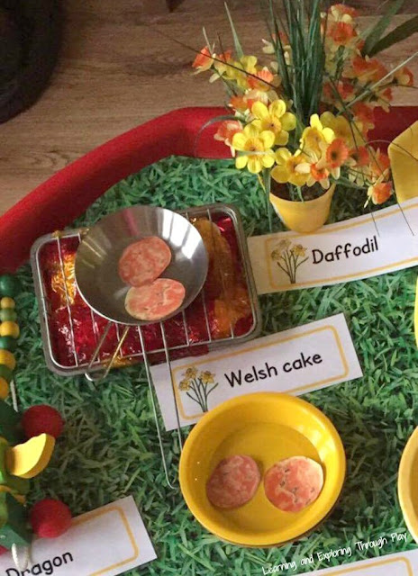 St Davids Day Tuff Tray Activity