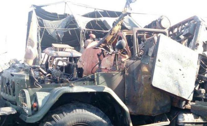 В районе аэродрома Луганска взорвалась российская военная техника