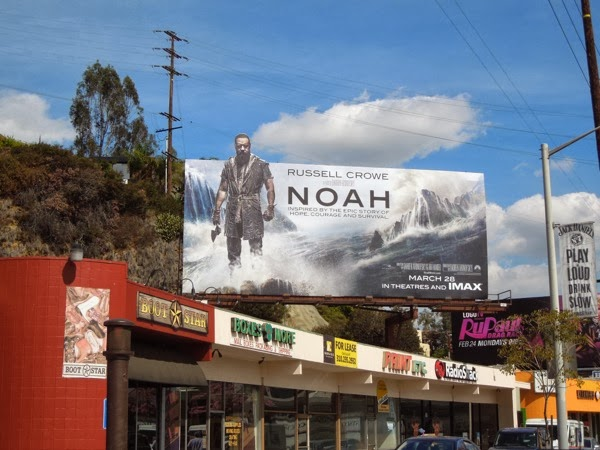 Noah movie billboard Sunset Strip