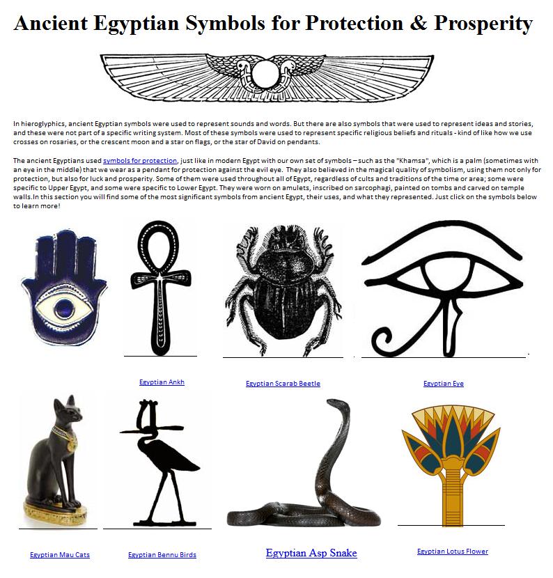 Ancient Egyptian Protection Symbols