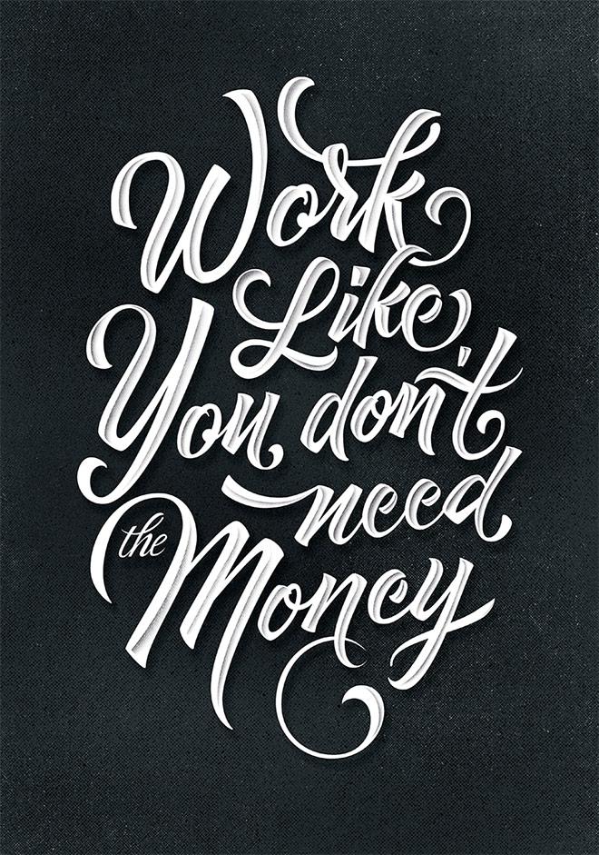 Inspirasi desain tipografi terbaik dan terbaru - Motivation quote poster by Ilham Herry