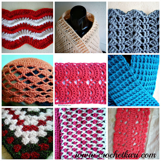 Crochet projects collage
