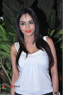 Actress Model Pooja Sri Stills in White Short Dress at F Club pre soft Launch  0017.JPG