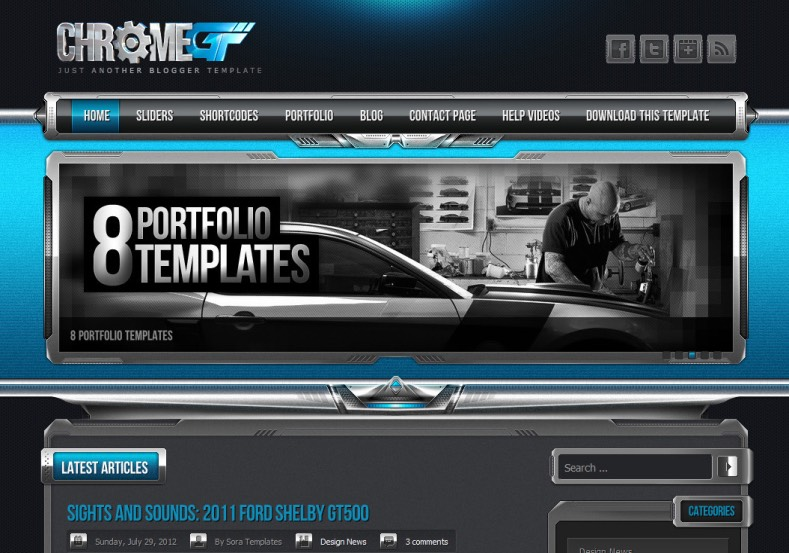 ChromeGT Blogger Template | High Quality Free Blogger Templates