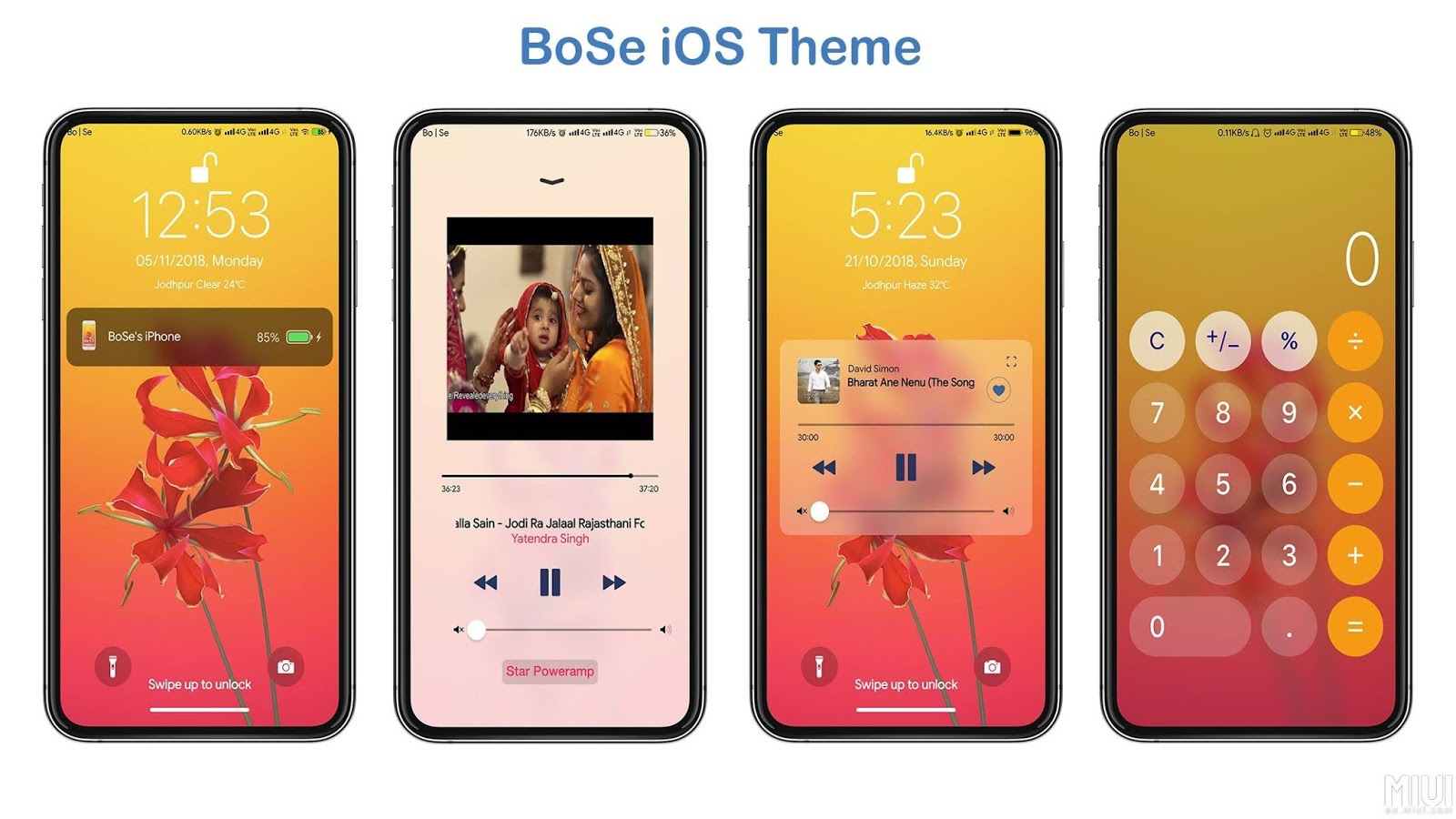 iPhone iOS BoSe V10 MIUI Theme Download For Xiaomi Mobile - MIUI Themes
