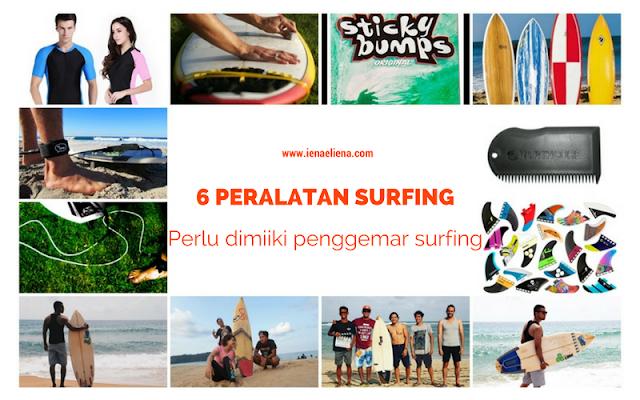 6 Peralatan Surfing Perlu Dimiliki Penggemar Surfing