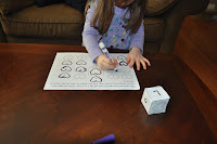 Valentine's day worksheets and activities-love dice-print the letter