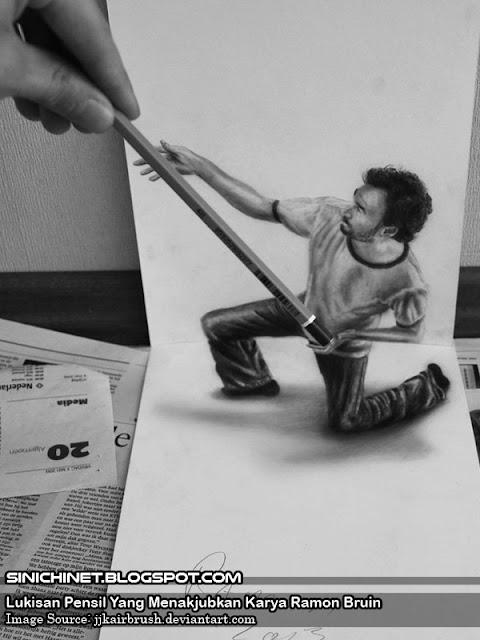 ilustrasi keren, lukisan pensil, 3d, sureal, airbrush art, airbrush painting, gambar 3 dimensi, gambar ilusi 3d, Ilusi, optical illusion, seni airbrush, seni gambar, Desain, Seni, seni, lukisan, seni lukis, seni lukis 3d, lukisan 3d, ramon bruin, lukisan 3d ramon bruin