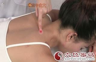 肩中俞穴位 | 肩中俞穴痛位置 - 穴道按摩經絡圖解 | Source:xueweitu.iiyun.com