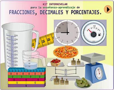 matemáticas, fracciones y decimales