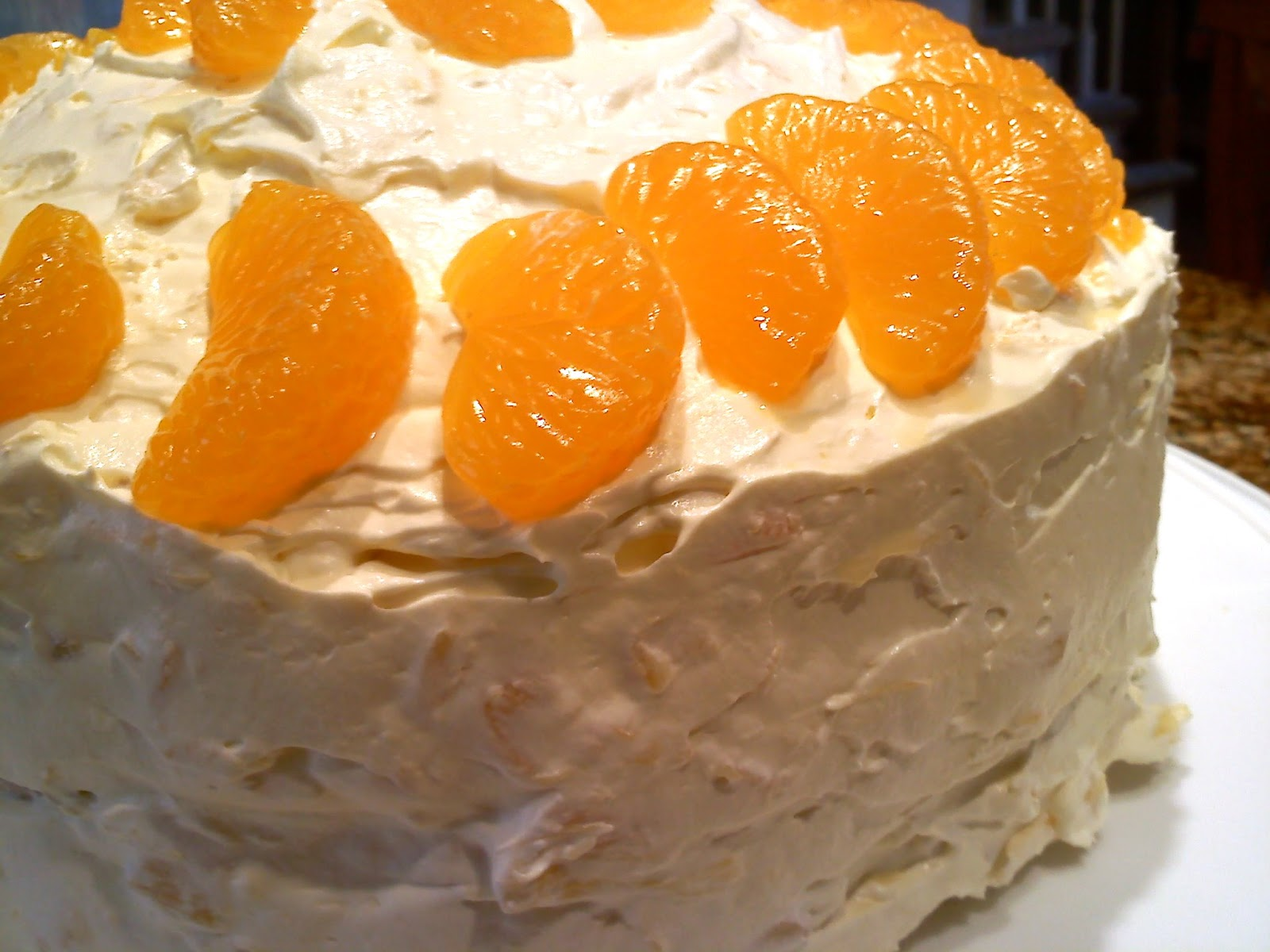 Orange Cake With Pineapple Frosting