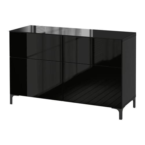 mueble aparador ikea negro lacado alto brillo