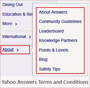 Yahoo answers terms and conditions