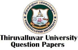 Thiruvalluvar University TIDE question papers PDF