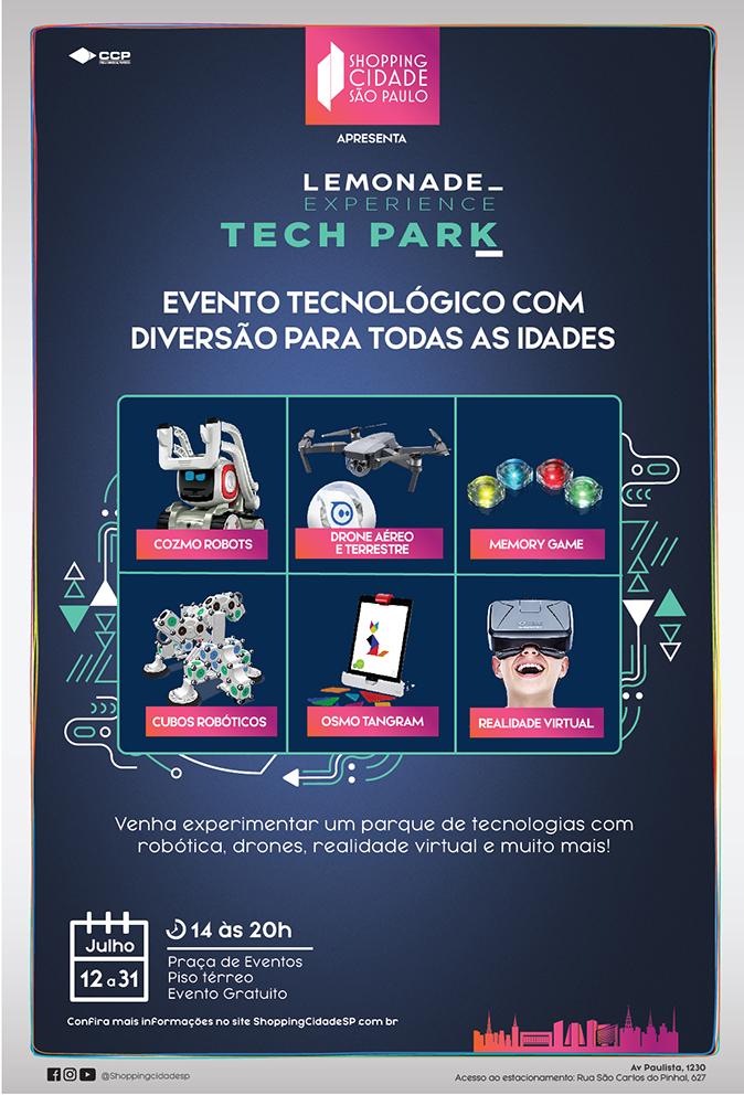 """Shopping Cidade São Paulo recebe """"Lemonade Experience Tech Park"""""""