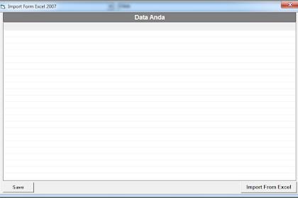 Import Data dari Excel ke dalam Database - VB6