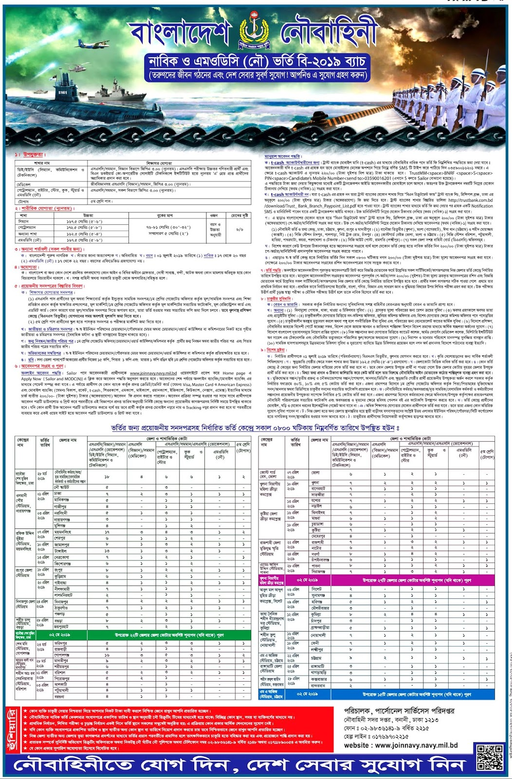 Bangladesh Navy Jobs Circular 2019 – www.joinnavy.mil.bd