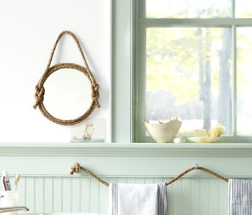 rope mirror tutorial by Martha Stewart