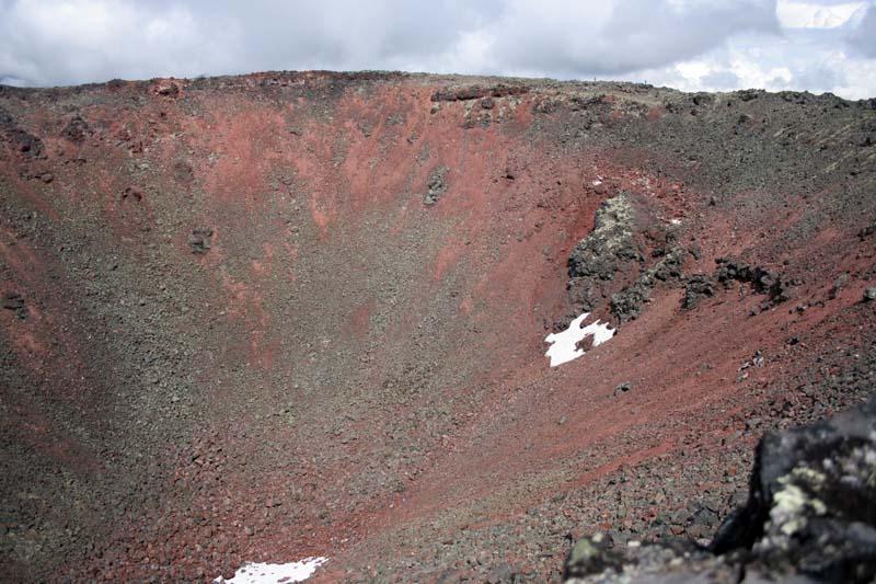 кратер вулкана черпук камчатка