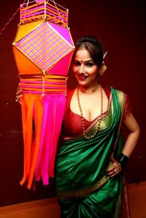 South actress Tanisha Singh did diwali photo shoot in Indian dress at Nrityavatika studio