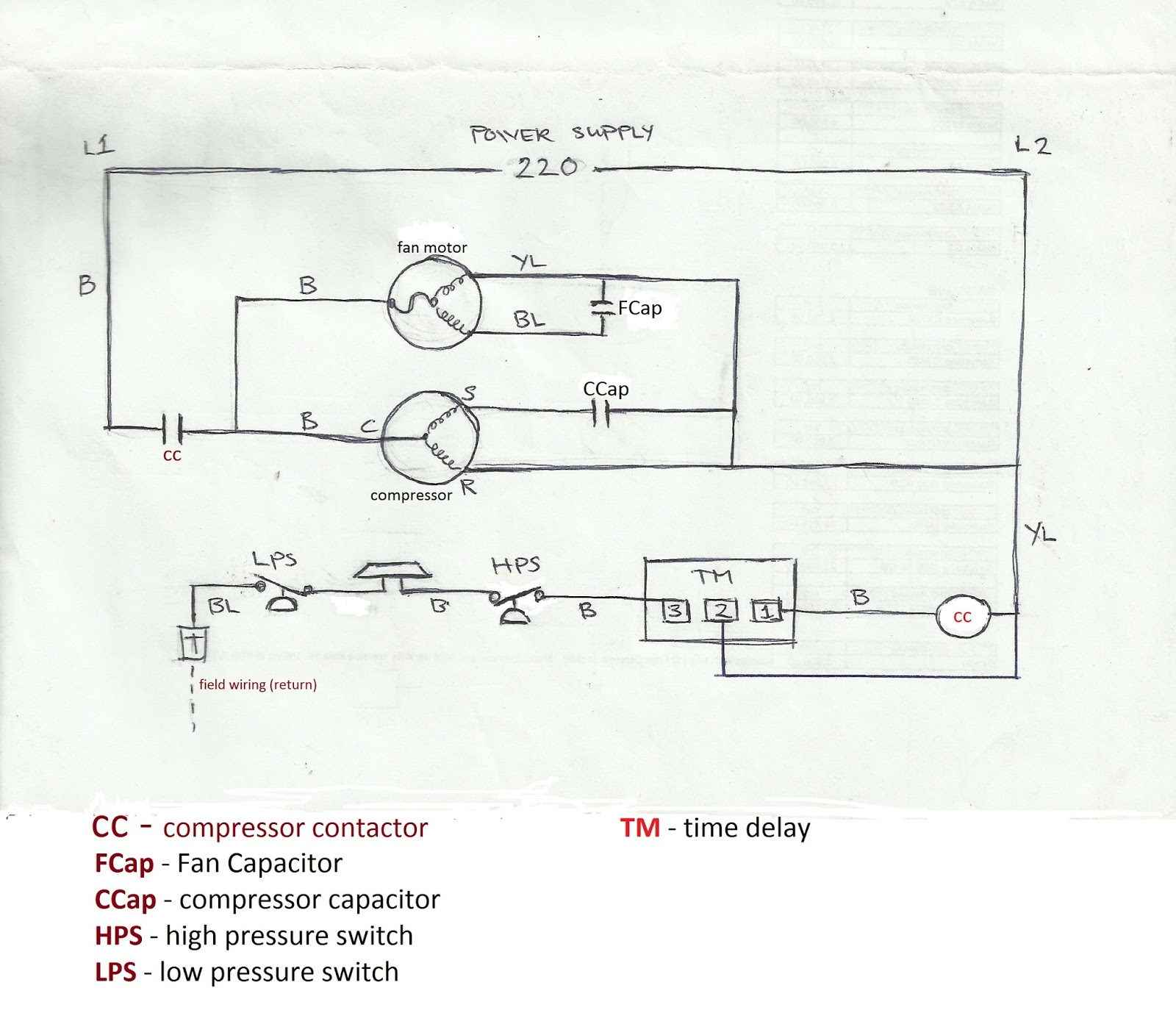 Carrier Air Conditioner Capacitor Wiring Diagram Xmas Lights Refrigeration And Conditioning Repair July 2013
