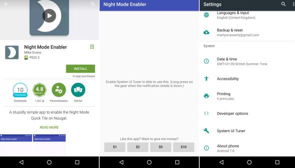 Cara Mengaktifkan Night Mode pada Android 7.0 Nougat,Ini Caranya  2