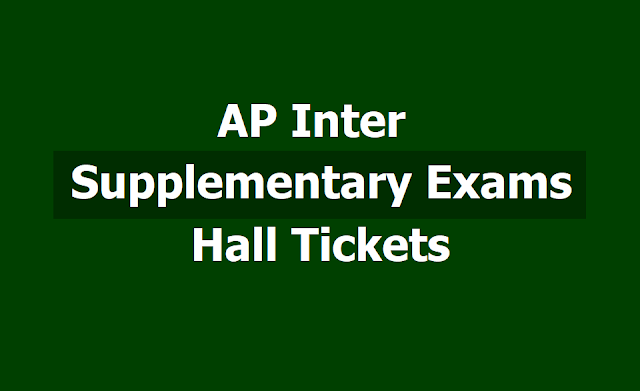 AP Inter Supplementary exams hall tickets 2019 from jnanabhumi.ap.gov.in