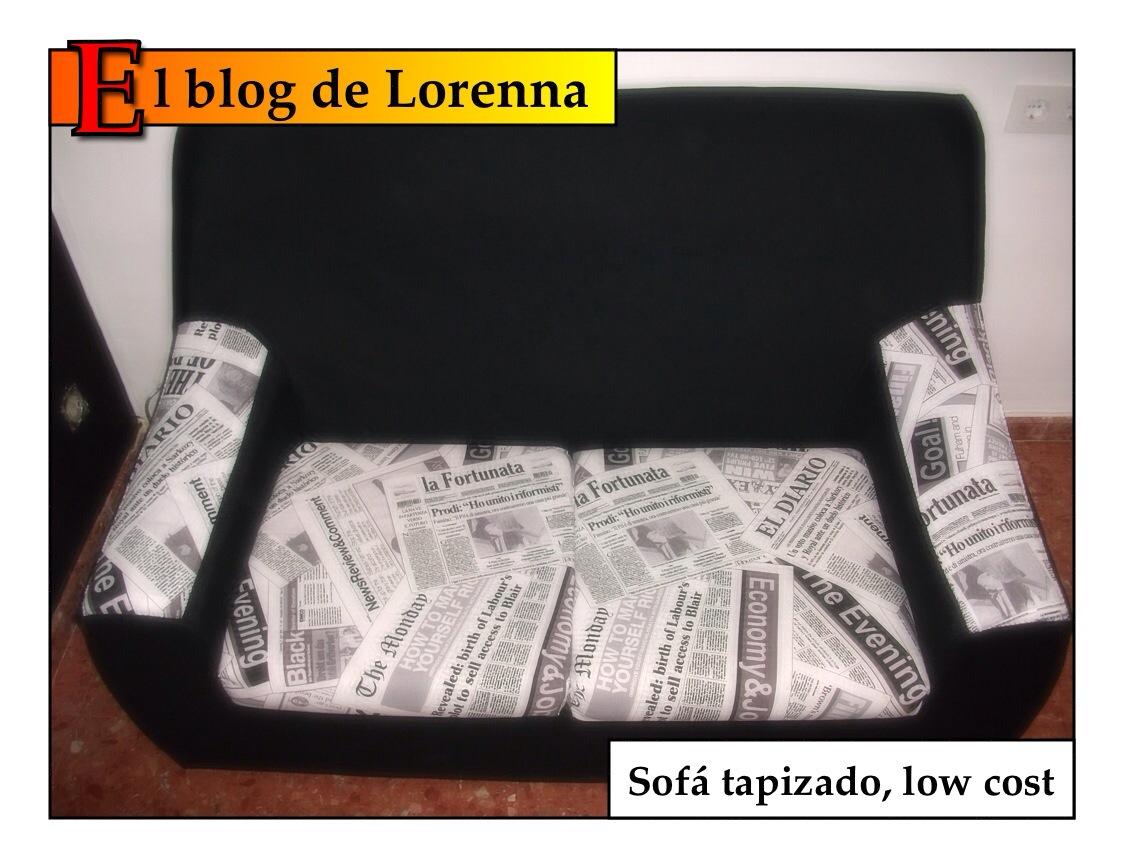 El blog de lorenna tapizar un sof low cost - Tapizar cojines sofa ...